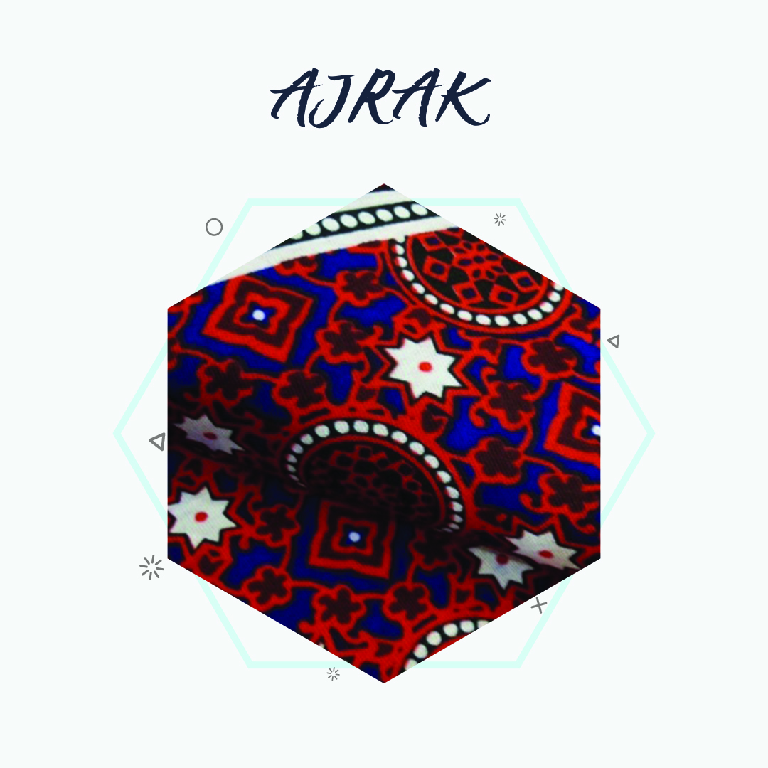 """Ajrak"" the most commonly used traditional technique in Pop Fashion"