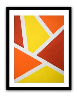 Orange and Yellow Color Blocking Painting